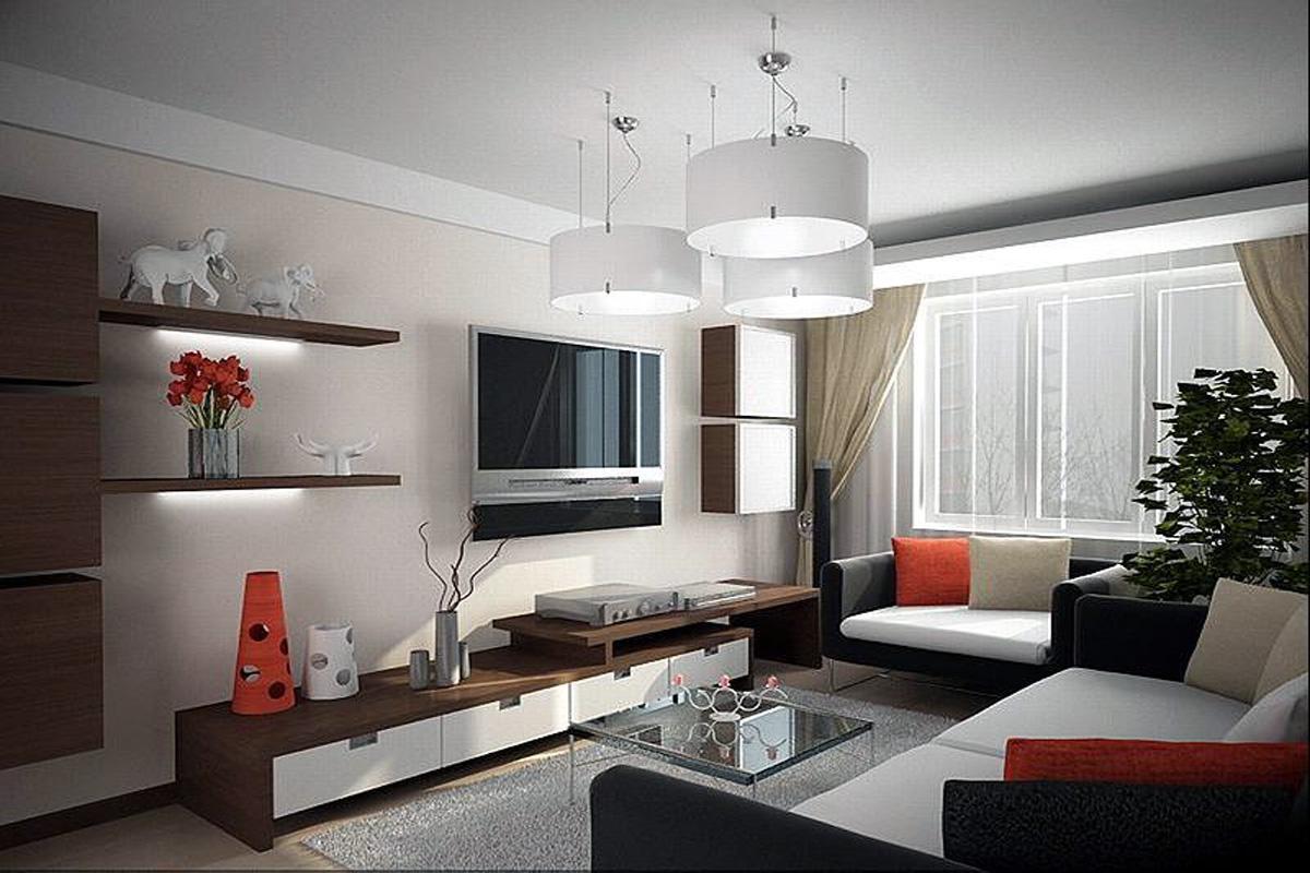 Ремонт гостиной однокомнатной квартиры